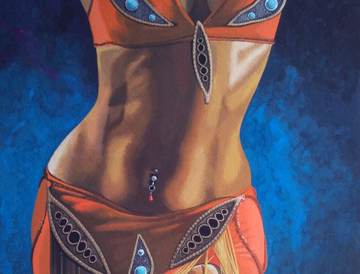 olie op canvas, 85x25cm